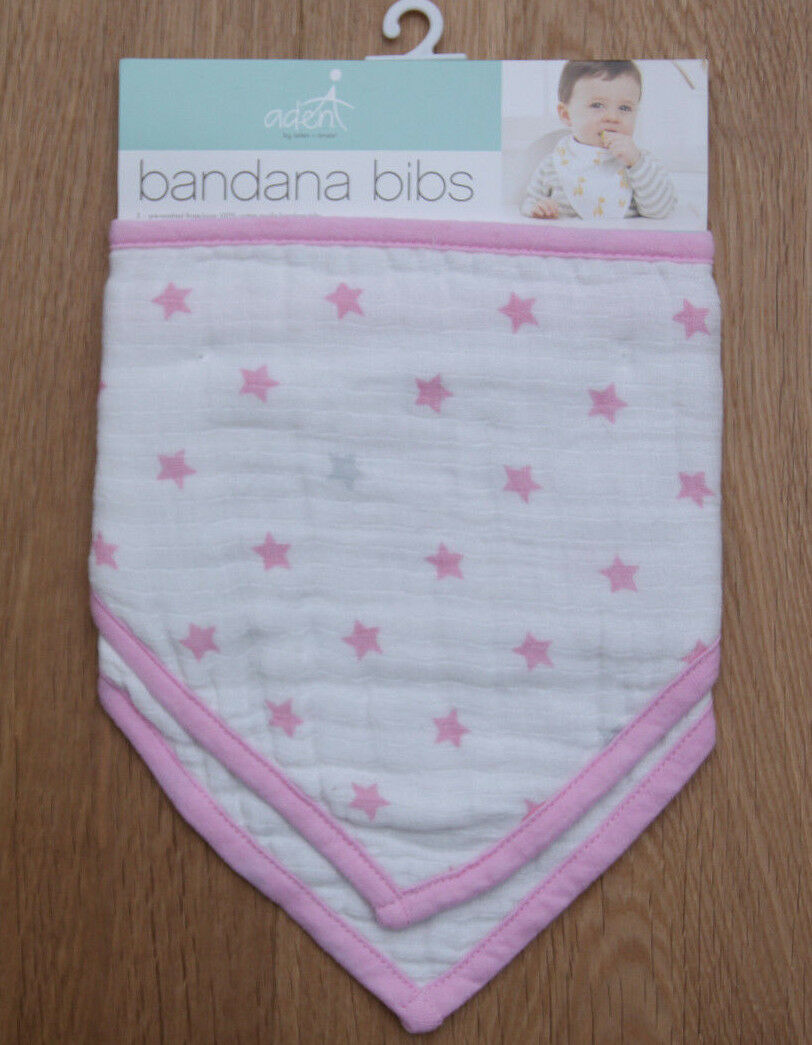Aden Anais Baby Girl 2 Pack Bandana Bib ~ Darling ~ Three La