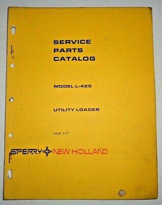 New Holland L-425 Utility Skid Steer Loader Parts Catalog Manual 177 Original