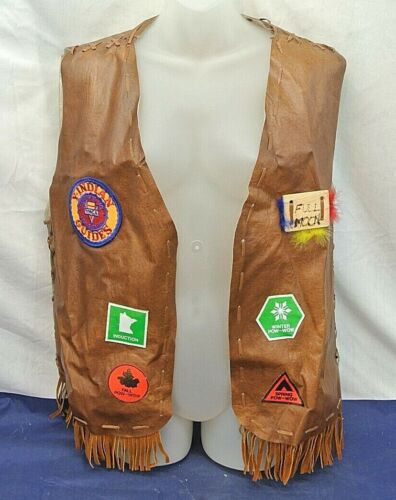 HANDMADE - VEST -  Y-INDIAN GUIDES, FATHER AND SON, YMCA PATCH