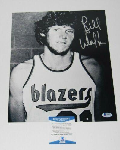 BILL WALTON signed (PORTLAND TRAILBLAZERS) Basketball 11X14 photo BECKETT BAS #2