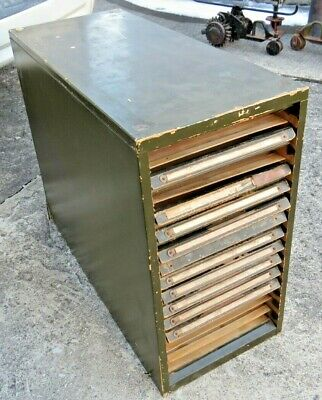 Vintage Early 1900s Multi Drawer Kardex File Cabinet Fast Shipping