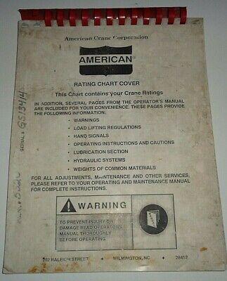 American 5520 Crane Rating Chart Instruction Manual Catalog Book Original