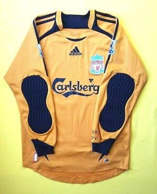 b2ced185172 4.2 5 Liverpool jersey small 2006 2007 goalkeeper shirt soccer Adidas ig93