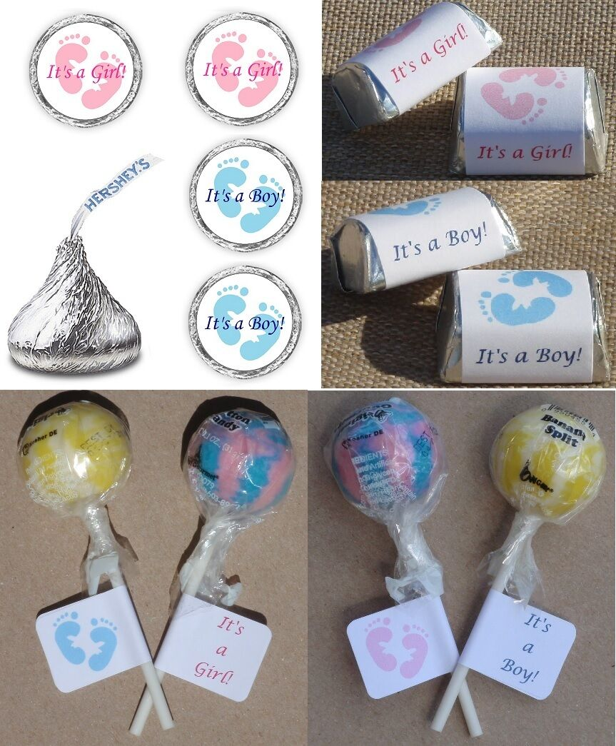 ITS A GIRL / BOY PINK / BLUE FOOTPRINTS BABY SHOWER PARTY LA