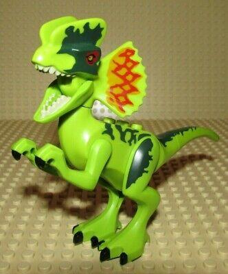 Lego Dinosaur DILOPHOSAURUS green minifigure 75916 Jurassic World