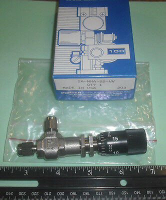 Porterparker Metering Valve Angle 316 Stainless Steel 18 Comp 2a-nma-ss-vv