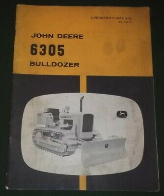 John Deere 6305 Bulldozer Operator Operation Maintenance Manual Book