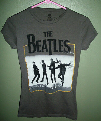 The Beatles Gray Tee Shirt Juniors Sz Medium 7 / 9 Official Apple Product