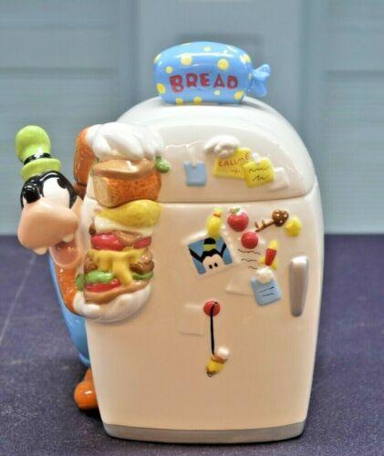 """Vintage Disney Goofy Talking Fridge Cookie Jar 10"""" Works"""