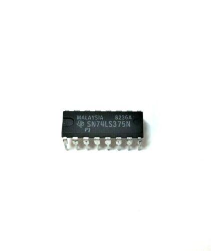 (2x) TI SN74LS375N - 4 Bit Bistable Latch IC, NOS