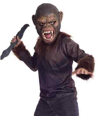 Caesar Dawn Planet Apes Monkey Chimpanzee Fancy Dress Up Halloween Teen Costume