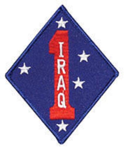 "USMC MARINE CORPS 1ST MARINE DIVISION IRAQ 4"" EMBROIDERED PATCH"