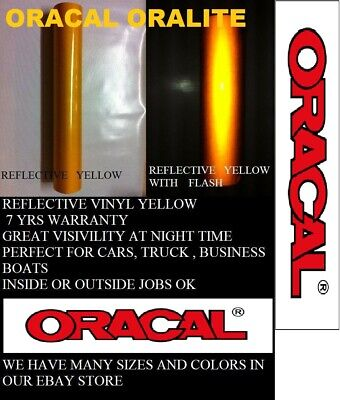 12 X 5 Ft Yellow Reflective Vinyl Adhesive Sign Made In Usa Oracal Oralite