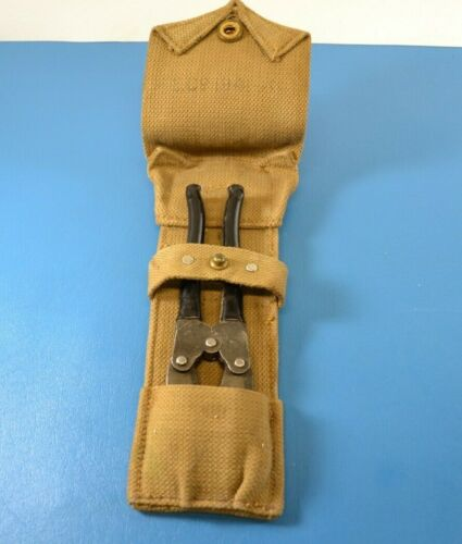 WWII British Military 1945 Wire Cutters Tool + Canvas Carry Both British Marked