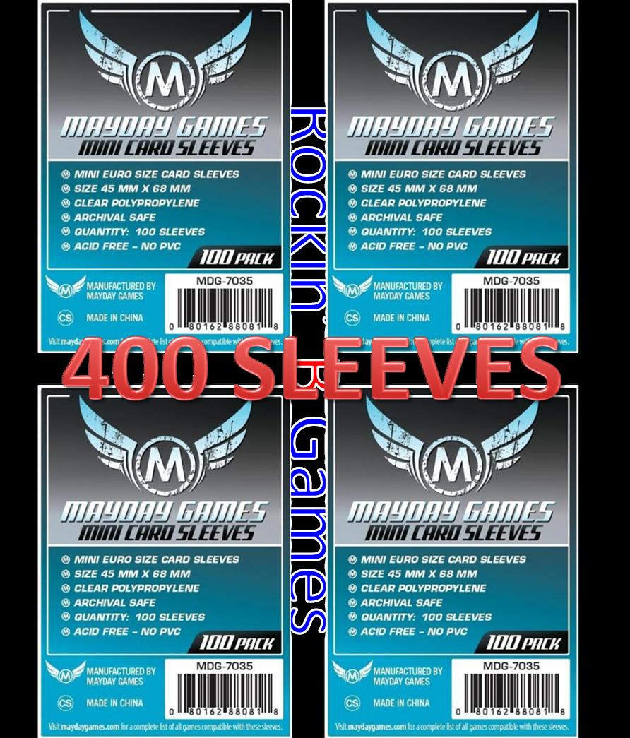 Mayday Games Mini Euro Card Sleeves 45MM X 68MM  MDG-7035