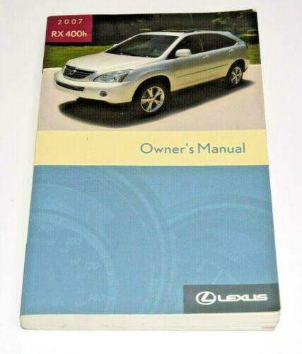 2007 LEXUS RX400H OWNERS MANUAL GUIDE BOOK OEM