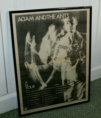 Adam And The Ants Zerox U.K. Tour vintage 1979 framed press advert poster
