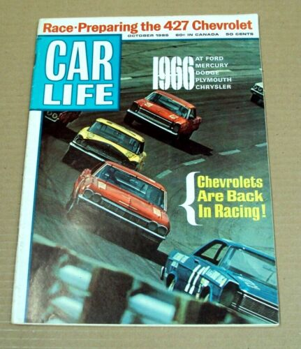 Vtg CAR LIFE Magazine ~ October 1965 ~ 1966 FORD Mercury DODGE Plymouth CHRYSLER