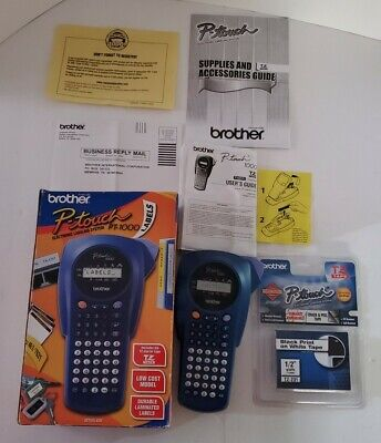 Printer Brother P-touch Label Maker Model Pt-1000 Thermal Printer Tested