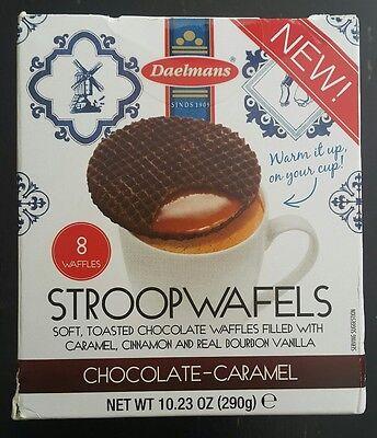 Daelmans CHOCOLATE CARAMEL STROOPWAFELS   NEW FLAVOR!!