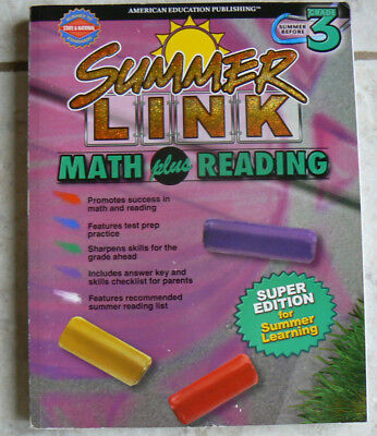 New  Aep Summer Link Before Gr 3 3Rd Math Plus Reading  Colorful Fun