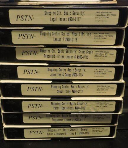 PSTN Shopping Center Basic Security Training Series #900 (8 VHS Tape Set)