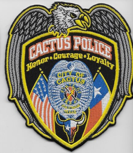 Cactus Police State Texas TX NEW Eagle & Flags