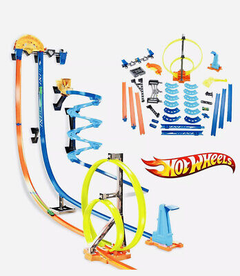 Hot Wheels Track Builder Vertical Launch Kit with 3 Configurations children game