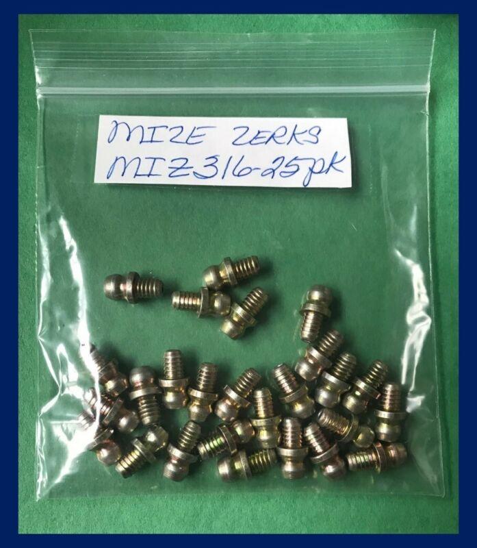 """Mize 25 Pc Heavy Duty Drive In Zerks 3/16"""" Nipple Grease Fitting Z316"""