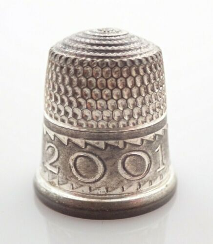 Sterling Silver Simons Brothers 2001 Sewing Thimble