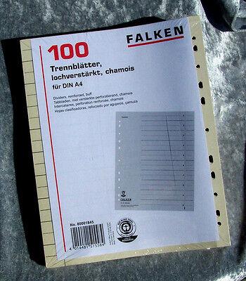 SEPARATORI REGISTRO foglie scatola di cartone per A4 RACCOGLITORE (24x30)
