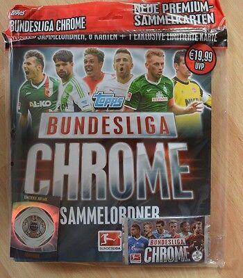 Topps Bundesliga Chrome 2013/2014 Starterpack / Sammelordner + Booster + Karte (Fußball-karte Ordner)