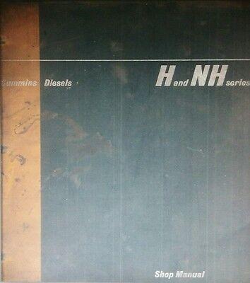 Cummins H Nh Series Diesel Engine Service Shop Manual 208pg Generator Marine