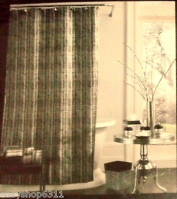 """RIVER BRICH SOLID AND J. QUEEN NEW YORK FABRIC SHOWER CURTAIN 72""""X72"""" BROWN NEW"""