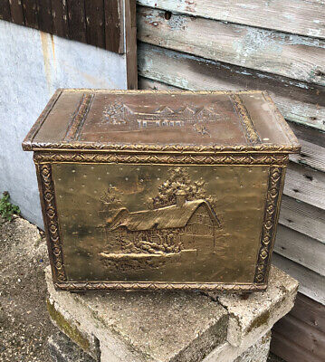 Vintage Golden Wooden Box 51cm