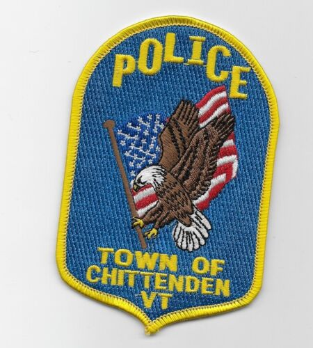 Chittenden Police State Vermont Eagle & Flag patch NEAT