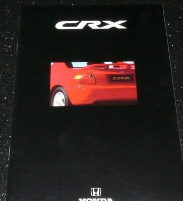 HONDA CRX CONVERTIBLE TARGA GLOSSY BROCHURE 6/1992. ENGLISH TEXT  EXC