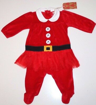 NEXT- MRS SANTA - CHRISTMAS TUTU BABYGROW PLAYSUIT OUTFIT - BABY GIRL 0-3 MONTHS - Baby Mrs Santa Outfit