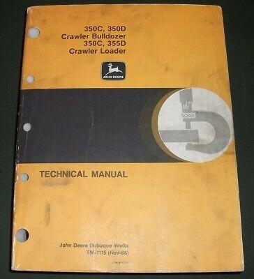 John Deere 350c 350d 355d Dozer Technical Service Shop Repair Manual Book Tm1115