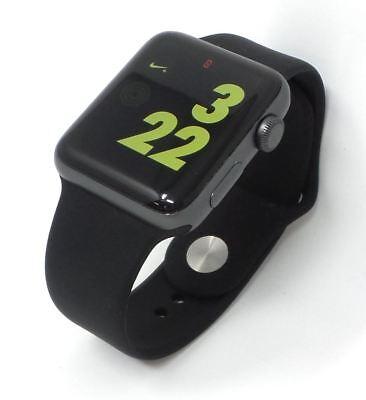 Apple Watch Series 2 Nike Aluminum Space Gray 42mm GPS Black M/L Bare