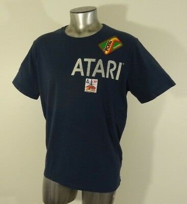 Atari Pong legend blast off men's embellished t-shirt vintage blue L new