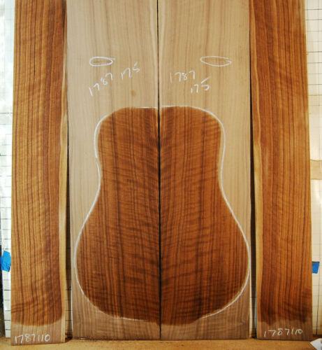 fiddleback curly walnut tonewood guitar luthier set back and sides quartersawn