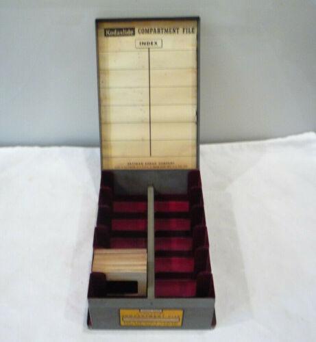 Vintage Kodak Kodaslide Compartment File - 35mm Slide Storage Tip-Out Metal Box