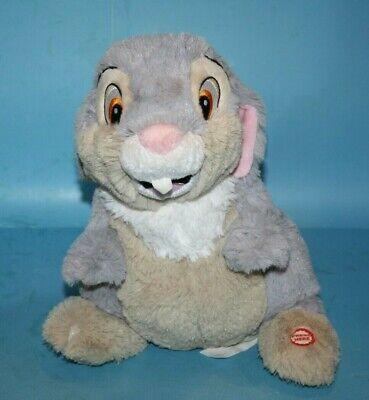 Hallmark Thumpin THUMPER Bunny Rabbit Disney Bambi Plush Talking Soft Toy Talks