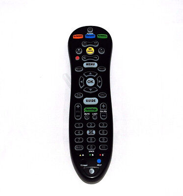 At T U Verse Remote Control S30 Black With Batteries With Manual Brand New  R12