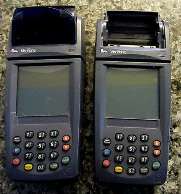 Lot Of 2 Verifone Nurit 8020 Card Reader Terminals.no Pwr Supp..for Parts...h