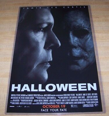 Halloween 11 Days (Halloween 2018 Michael Myers 11X17 Teaser Movie Poster 40 years later)