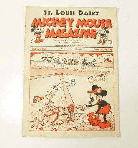 Mickey Mouse Magazine Vol. 2 #9 Giveaway Promo St. Louis Dairy July 1935