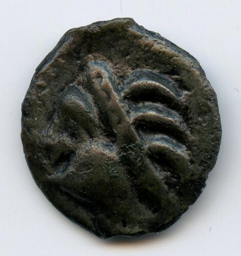 Leuques (The1st Century Av J.C) Potin Coin to the Head Indian and in the Boar