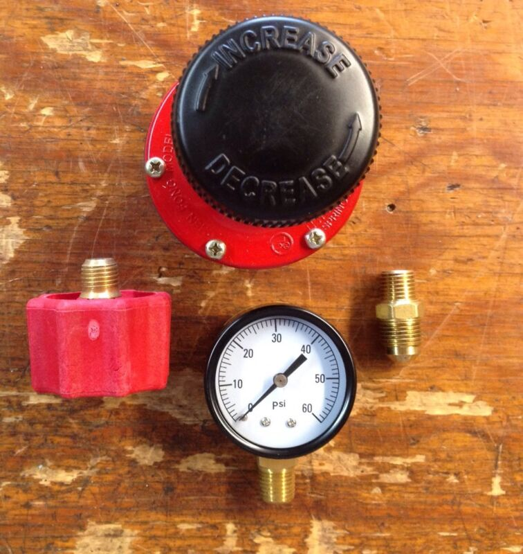 Propane HP  Adjustable Regulator 0-60 Psi Kit With Red QCC Fitting